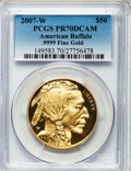 Modern Bullion Coins, 2007-W G$50 One-Ounce Gold American Buffalo PR70 Deep Cameo PCGS..9999 Fine Gold. PCGS Population (702). NGC Census: (323...
