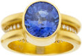 Estate Jewelry:Rings, Reinstein-Ross Sapphire, Diamond Gold Ring. ...
