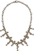 Estate Jewelry:Necklaces, Chantecler Diamond, Gold Necklace . ...