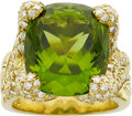 Estate Jewelry:Rings, Henry Dunay Peridot, Diamond, Gold Ring. ...