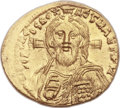 Ancients:Byzantine, Ancients: Justinian II, First Reign (AD 685-695). AV solidus (21mm, 4.45 gm, 6h)....