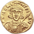 Ancients:Byzantine, Ancients: Tiberius III Apsimar (AD 698-705). AV solidus (20mm, 4.35gm, 6h). ...