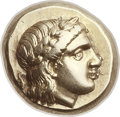 Ancients:Greek, Ancients: LESBOS. Mytilene. Ca. 377-326 BC. EL hecte (11mm, 2.56gm, 12h). ...