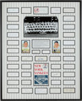 Baseball Collectibles:Others, 1961 New York Yankees Team Signed Framed Display - 41 Total. ...
