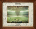 Autographs:Others, 1965 Houston Astrodome Old Timers Game Multi-Signed Photograph withJimmie Foxx....