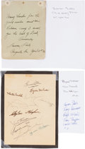 Golf Collectibles:Autographs, 1940 Legends of Golf Signed Page with Snead, Hogan, Nelson....