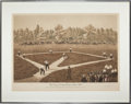 Baseball Collectibles:Others, 1929 The American National Game of Baseball Aquatint Print(47/150)....