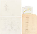 Animation Art:Production Drawing, Animation Pencil Test Drawing Group (c. 1930s).... (Total: 40Items)