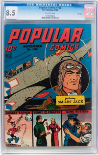 Popular Comics #105 File Copy (Dell, 1944) CGC VF+ 8.5 Off-white pages