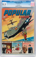 Golden Age (1938-1955):War, Popular Comics #102 File Copy (Dell, 1944) CGC VF+ 8.5 Off-white pages....