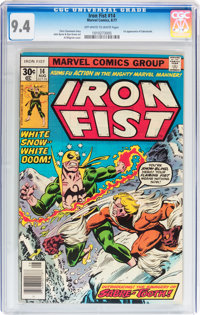 Iron Fist #14 (Marvel, 1977) CGC NM 9.4 Off-white to white pages