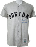 """Autographs:Others, Circa 1990 Ted Williams """"1941-.406"""" Signed Boston Red Sox Jersey...."""