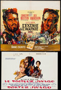 """Movie Posters:Drama, Doctor Zhivago & Others Lot (MGM, 1965). Belgians (3) (14"""" X21.5"""", 14.25"""" X 21.5"""", 22.75"""" X 19.25"""" ). Drama.. ... (Total: 3Items)"""