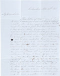 Miscellaneous:Ephemera, Early Letter from Columbia, Texas....