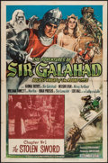 "Movie Posters:Serial, The Adventures of Sir Galahad (Columbia, 1949). One Sheet (27"" X 41"") Chapter 1 --""The Stolen Sword."" Serial.. ..."