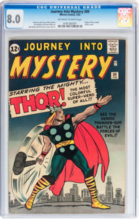 Journey Into Mystery #89 (Marvel, 1963) CGC VF 8.0 Off-white to white pages