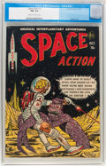 Golden Age (1938-1955):Science Fiction, Space Action #3 (Ace, 1952) CGC FN+ 6.5 Cream to off-whitepages....