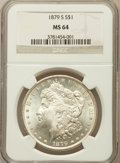 Morgan Dollars: , 1879-S $1 MS64 NGC. NGC Census: (36456/30410). PCGS Population(35795/31131). Mintage: 9,110,000. Numismedia Wsl. Price for...
