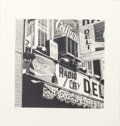 Prints, ROBERT COTTINGHAM (American, b. 1935). Radio City Deli, 1979; Tattoo, 1975 (pair). Lithographs. 36-1/2 x 36-1/2 ... (Total: 2 Items)