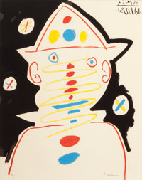 PABLO PICASSO (Spanish, 1881-1973) Clown, 1961 Color offset lithograph 25 x 20 inches (63.5 x 50