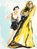 Fine Art - Work on Paper:Print, ERIC FISCHL (American, b. 1948). Untitled (from Annie, Gwen, Lilly, Pam and Tulip), 1986. Color lithograph. 20 x 15 inch...