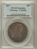 Bust Half Dollars, 1817 50C -- Cleaning -- PCGS Genuine. Fine Details. NGC Census:(17/439). PCGS Population (13/611). Mintage: 1,215,567....