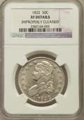 Bust Half Dollars, 1832 50C Small Letters -- Improperly Cleaned -- NGC Details. XF.NGC Census: (123/1738). PCGS Population (220/1679). Mintag...