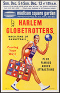 """Basketball Collectibles:Others, Circa Late 1960's/Early 1970's Harlem Globetrotters """"Madison Square Garden"""" Broadside...."""