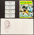 Football Collectibles:Others, 1960's Green Bay Packers Memorabilia Lot....