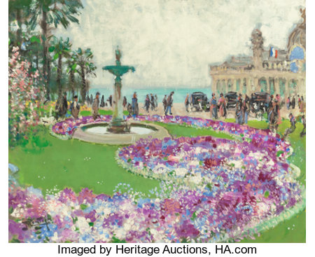 PIERRE EUGÈNE MONTÉZIN (French, 1874-1946) Le Casino Oil on canvas 24 x 28-3/4 inches (61.0 x 73.0 cm) Signed lower ...