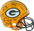 Football Collectibles:Helmets, 1960's Green Bay Packers Greats Multi Signed Full Size Authentic Helmet....