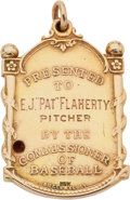 "Baseball Collectibles:Others, 1921 New York Giants World Championship Pendant Presented toPitcher E.J. ""Pat"" Flaherty...."