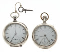 Timepieces:Pocket (pre 1900) , Waltham Two Running Model 57 Key Winds. ... (Total: 2 Items)