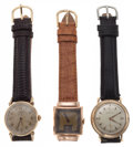 Timepieces:Wristwatch, Two Hamilton & One Bulova Wristwatches Runners. ... (Total: 3 Items)