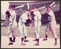 Snider, Mantle, DiMaggio and Mays Multi Signed Photograph