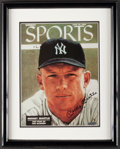 Baseball Collectibles:Photos, Mickey Mantle Upper Deck Authenticated Print....