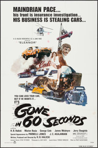 """Gone in 60 Seconds (New City Releasing, 1974). One Sheet (27"""" X 41""""). Action"""