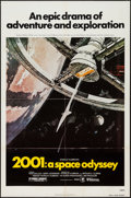 "Movie Posters:Science Fiction, 2001: A Space Odyssey (MGM, R-1980). One Sheet (27"" X 41""). Science Fiction.. ..."