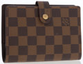 Luxury Accessories:Accessories, Louis Vuitton Damier Ebene Canvas Small Ring Agenda Cover . ...