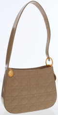 Luxury Accessories:Bags, Christian Dior Beige Quilted Leather Shoulder Bag with GoldHardware. ...
