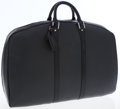 Louis Vuitton Black Taiga Leather Helanga 1 Poche Travel Bag with LV Garment Bag