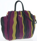 Luxury Accessories:Bags, Prada Multicolor Striped Nappa Leather Tote Bag with Gold Hardware....
