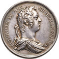 Betts-160. Louis XV Indian Peace Medal. Silver. VF