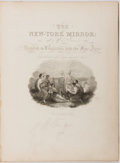 Books:Periodicals, [Newspaper]. The New-York Mirror. Group of Two Bound VolumesContaining Vol. XII. No. 1-52. 1834-1835. [and:] ... (Total: 2Items)