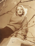 Photographs, GEORGE HURRELL (American, 1904-1992). Portrait of MarleneDietrich with Tree Branches, 1939. Gelatin silver print.13-1/...