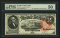 Large Size:Legal Tender Notes, Fr. 53 $2 1880 Legal Tender PMG About Uncirculated 50.. ...