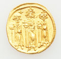Ancients:Byzantine, Ancients: Heraclius, with Heraclius Constantine and Heraclonas (AD610-641). AV solidus (4.32 gm)....