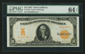 Large Size:Gold Certificates, Fr. 1168 $10 1907 Gold Certificate PMG Choice Uncirculated 64 EPQ.....
