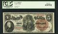 Large Size:Legal Tender Notes, Fr. 70 $5 1880 Legal Tender PCGS Gem New 65PPQ.. ...