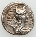 Ancients:Roman Republic, Ancients: C. Hosidius C.f. Geta (64 BC). AR denarius (3.93 gm)....